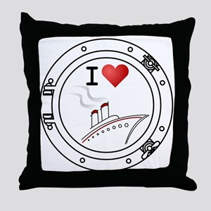 I Heart Cruising Throw Pillow